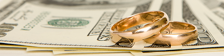 Married someone with debt header - money with rings on top