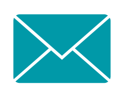 Mail icon in teal